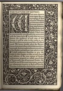 Pagina uit een boek ten tijde van de Arts and crafts beweging