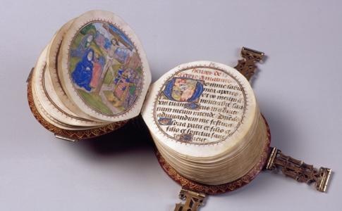 cirkelvormig boek Codex Rotundus uit1480