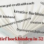 Creatief boekbinden in 52 talen