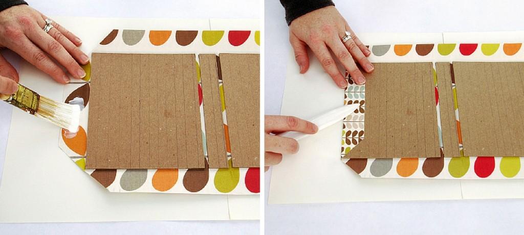 12-japanse wikkel zijkant papier lijmen