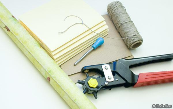 koptische binding - materialen
