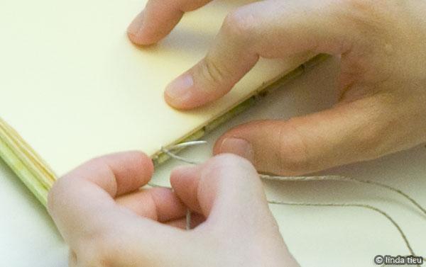 koptische binding - tweede katern naaien