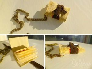 boek halsketting