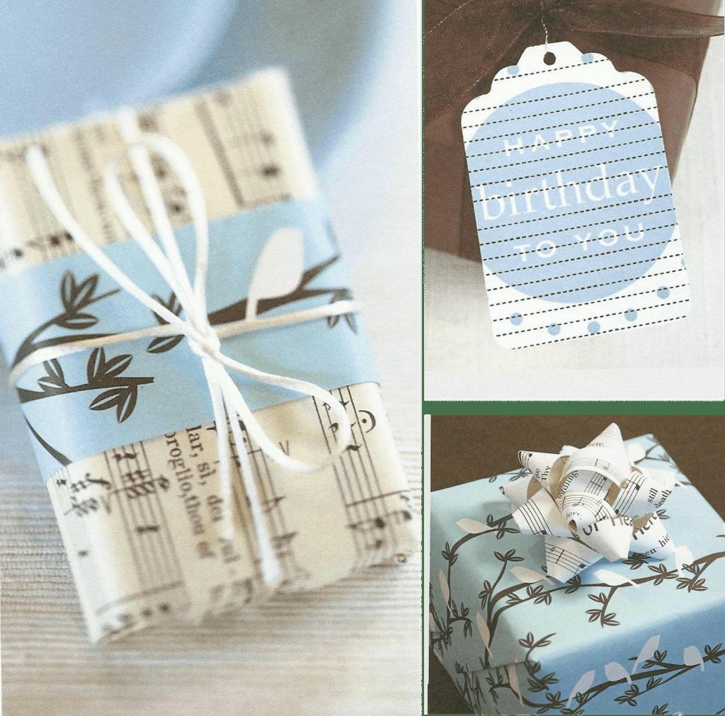 geschenkjes inpakken en versieren met oude boeken