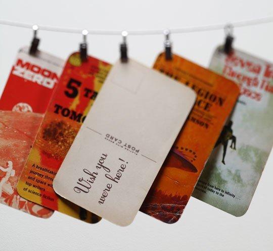wenskaarten van pocketkaften