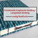 Combinatie van Koptische binding en Langsteek binding