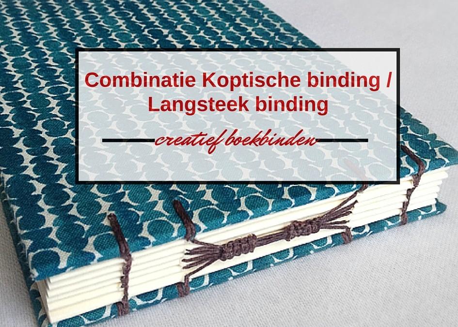 Combinatie van Koptische binding en Langsteek binding