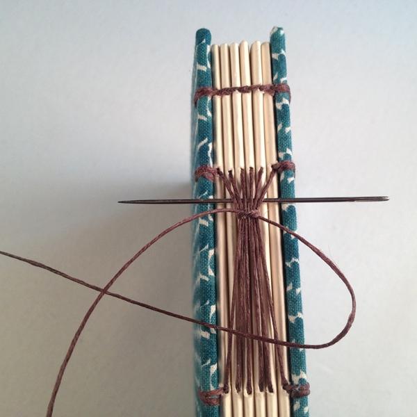 combinatie Koptische- Langsteek binding
