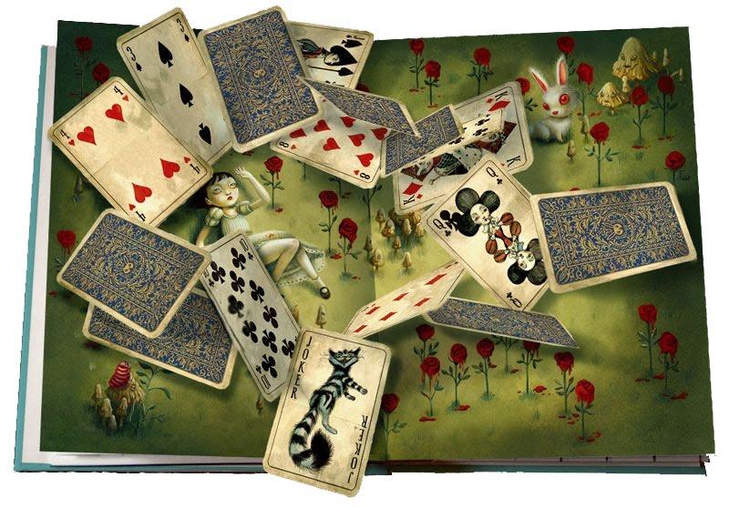 il etait une fois: de kaarten van Alice in wonderland