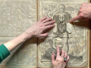 Eén van de eerste pop-boeken was van Vesalius