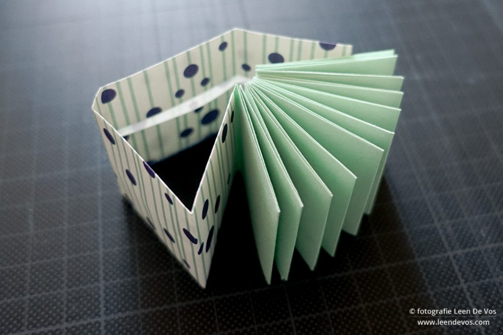 mini origami boek - tutorial