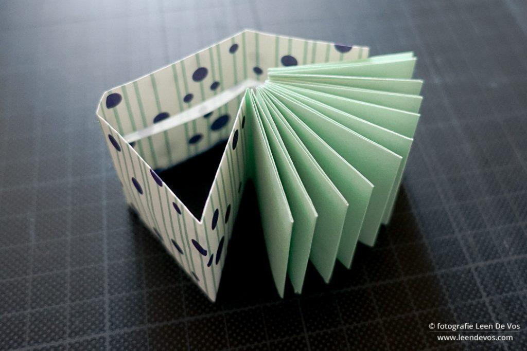 mini origami boek - tutorial